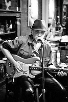 Gypsy Joe Hocking, guitarist and vocalist of Gypsy Trane. The Cupping Room,