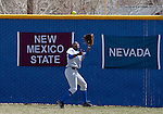 April 7, 2012:   San Jose State Spartans Vanessa House makes the catch against the Nevada Wolf Pack during their NCAA softball game played at Christina M. Hixson Softball Park on Saturday in Reno, Nevada.