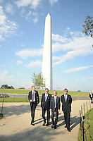 USA Bid Committee for the 2018 or 2022 FIFA World Cup from right to left Harold Mayne-Nicholls (Head of FIFA Inspection) Sunil Gulati ( Chairman of the USA Bid Committee) Dany Jordan (CEO of the 2010 FIFA World Cup Organizing Committee) at the Washington Monument , Wednesday  September 8, 2010.