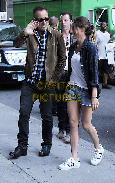 NEW YORK, NY- SEPTEMBER 22: Bruce Springsteen and daughter Jessica Springsteen at The Late Show With Stephen Colbert in New York City. September 22, 2016.   <br /> CAP/MPI/RW<br /> &copy;RW/MPI/Capital Pictures
