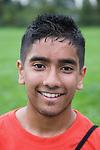 Portrait of a teenage boy smiling. MR