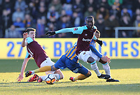West Ham United's Pedro Obiang<br /> <br /> Photographer Rob Newell/CameraSport<br /> <br /> The Emirates FA Cup Third Round - Shrewsbury Town v West Ham United - Sunday 7th January 2018 - New Meadow - Shrewsbury<br />  <br /> World Copyright &copy; 2018 CameraSport. All rights reserved. 43 Linden Ave. Countesthorpe. Leicester. England. LE8 5PG - Tel: +44 (0) 116 277 4147 - admin@camerasport.com - www.camerasport.com