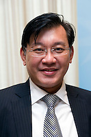 CHEE Seng Lok, Director of Global Fund Services in Asia, BNP Paribas, at Shanghai / Paris Europlace Financial Forum, in Shanghai, China, on December 1, 2010. Photo by Lucas Schifres/Pictobank