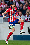 Filipe Luis of Atletico de Madrid in action during the La Liga 2017-18 match between Atletico de Madrid and Athletic de Bilbao at Wanda Metropolitano  on February 18 2018 in Madrid, Spain. Photo by Diego Souto / Power Sport Images