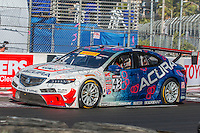 Ryan Eversley, #43 Acura TLX-GT, Pirelli World challenge race, Long Beach Grand Prix, Long Beach, CA, April 2015.  (Photo by Brian Cleary/ www.bcpix.com )