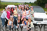 HEN PARTY: Karen Heffernan from Woodford, Listowel, celebrated her hen party in style on Saturday evening. The party are pictured here in Listowel before heading off by limousine for Kenmare. In the picture in front Stacey Sugrue, Ballybunion, Caroline Hennessy, Finuge, Rachel Browne, Listowel, Ciara Mulvihill and Rebecca Moynihan, Lisselton, Rose McElligott, Chris Heffernan, Karen Kelliher, Sarah Hennessy, Nicole Heffernan and Bernadette Murphy, Listowel, Karen Heffernan (Bride to be), Sussanna Hennessy, Finuge, Martina Lynch, Listowel, and Shirelle Kelliher, Listowel..