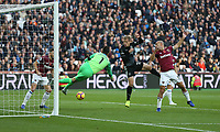 Burnley's Matej Vydra fails to connect from close range<br /> <br /> Photographer Rob Newell/CameraSport<br /> <br /> The Premier League - West Ham United v Burnley - Saturday 3rd November 2018 - London Stadium - London<br /> <br /> World Copyright &copy; 2018 CameraSport. All rights reserved. 43 Linden Ave. Countesthorpe. Leicester. England. LE8 5PG - Tel: +44 (0) 116 277 4147 - admin@camerasport.com - www.camerasport.com