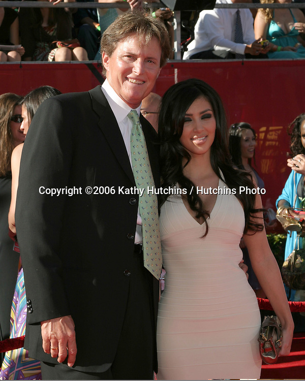 Bruce Jenner & stepdaughter Kim Kardashian.2006 ESPY Awards.Kodak Theater.Los Angeles, CA.July 12, 2006.©2006 Kathy Hutchins / Hutchins Photo....