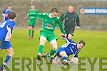 Kingdom Boys Adam Pigott and Killarney Athletic's Pa Wrenn..