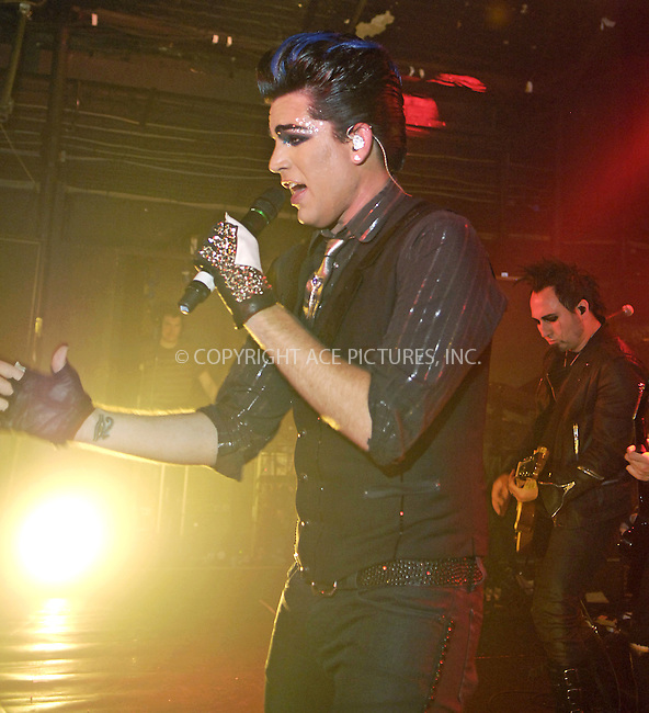 WWW.ACEPIXS.COM . . . . .  ..... . . . . US SALES ONLY . . . . .....April 24 2010, London....American Idol contestant Adam Lambert performs at G.A.Y. on April 24 2010 in London, England....Please byline: FAMOUS-ACE PICTURES... . . . .  ....Ace Pictures, Inc:  ..Tel: (212) 243-8787..e-mail: info@acepixs.com..web: http://www.acepixs.com