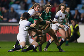 16th March 2018, Ricoh Arena, Coventry, England; Womens Six Nations Rugby, England Women versus Ireland Women; Rochelle Clark of England tackles Paula Fitzpatrick of Ireland
