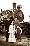 Family in front of a Steam Train No. 4