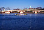 N.A., USA, Massachussetts, Cambridge, Harvard University,  Skulling on the Charles River