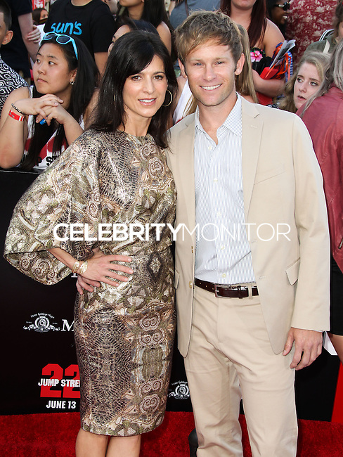 WESTWOOD, LOS ANGELES, CA, USA - JUNE 10: Perrey Reeves, Johann Urb at the World Premiere Of Columbia Pictures' '22 Jump Street' held at the Regency Village Theatre on June 10, 2014 in Westwood, Los Angeles, California, United States. (Photo by Xavier Collin/Celebrity Monitor)