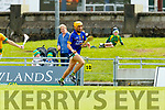 Seanie Murnane Kilmoyley in action against John Griffin Lixnaw in the Kerry County Senior Hurling championship Final between Kilmoyley and Lixnaw at Austin Stack Park on Sunday.