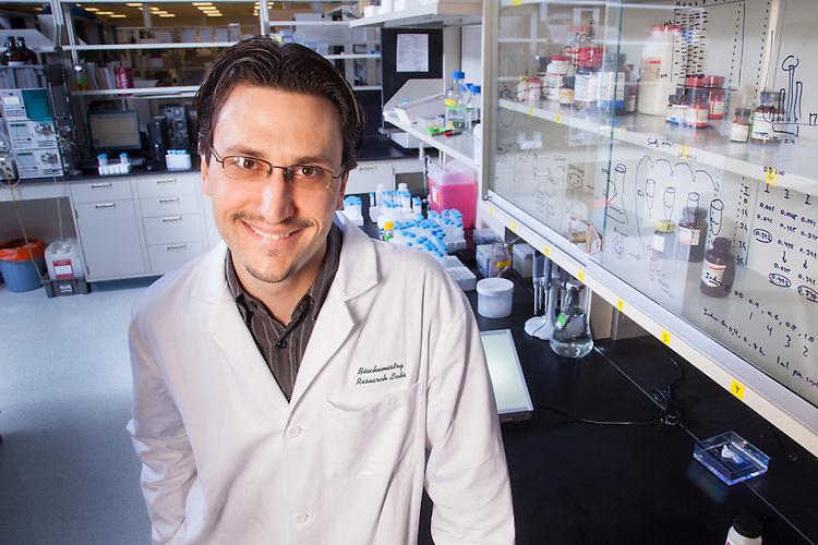 Assistant Professor Justin M. Holub, Biochemistry Research Facility Ohio University. © Ohio University / Photo by Jonathan Adams
