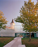 AUSTRIA, Podersdorf, a community church decorated with a names written on a glass wall, Burgenland