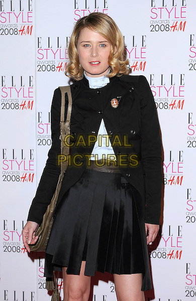 ROISIN MURPHY.Attending the ELLE Style Awards 2008,.The Westway, London, England,.February 12th 2008..half length black jacket skirt bag.CAP/BEL.©Tom Belcher /Capital Pictures