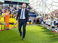 Preston North End's John Welsh is given a guard of honour<br /> <br /> Photographer Alex Dodd/CameraSport<br /> <br /> The EFL Sky Bet Championship - Preston North End v Burton Albion - Sunday 6th May 2018 - Deepdale Stadium - Preston<br /> <br /> World Copyright &copy; 2018 CameraSport. All rights reserved. 43 Linden Ave. Countesthorpe. Leicester. England. LE8 5PG - Tel: +44 (0) 116 277 4147 - admin@camerasport.com - www.camerasport.com