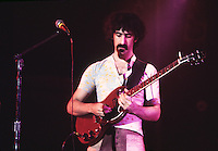 Frank Zappa of the rock group The Mothers of Invention performing live in concert.