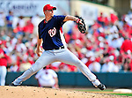 10 March 2010: Washington Nationals' pitcher J.D. Martin on the mound during a Spring Training game against the St. Louis Cardinals at Roger Dean Stadium in Jupiter, Florida. The Cardinals defeated the Nationals 6-4 in Grapefruit League action. Mandatory Credit: Ed Wolfstein Photo