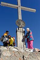 Gipfel des Nebelhorn bei  Oberstdorf im Allg&auml;u, Bayern, Deutschland<br /> summit of  Mt.Nebelhorn near Oberstdorf, Allg&auml;u, Bavaria, Germany