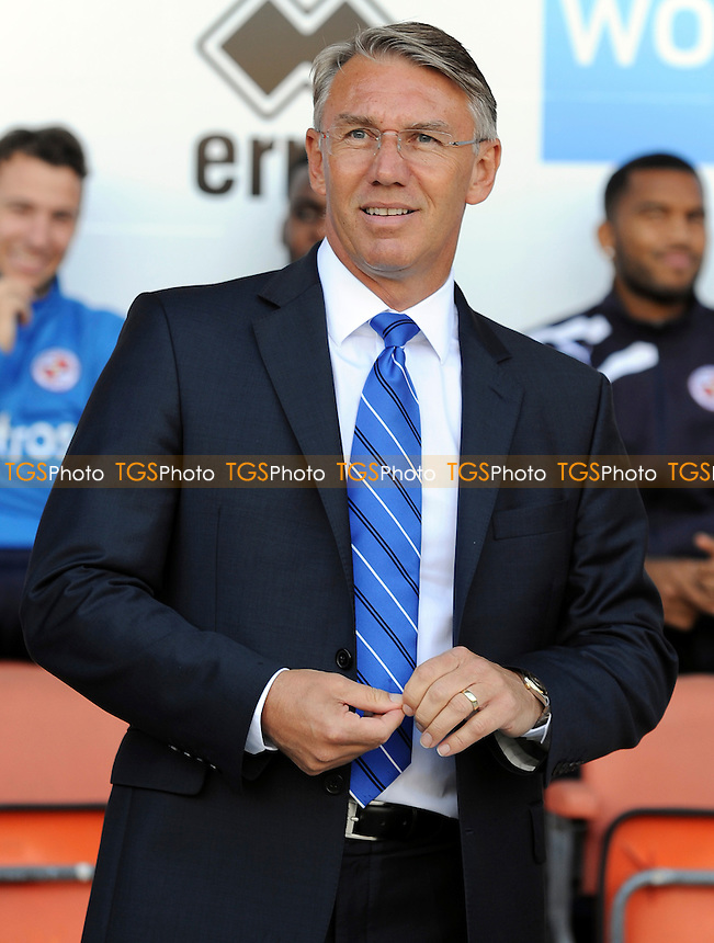 Reading manager Nigel Adkins - Blackpool vs Reading - Sky Bet Championship Football at Bloomfield Road, Blackpool, Lancashire - 24/08/13 - MANDATORY CREDIT: Greig Bertram/TGSPHOTO - Self billing applies where appropriate - 0845 094 6026 - contact@tgsphoto.co.uk - NO UNPAID USE