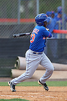 New York Mets outfielder Yucary De la cruz #23 during a minor league spring training intrasquad game at the Port St. Lucie Training Complex on March 27, 2012 in Port St. Lucie, Florida.  (Mike Janes/Four Seam Images)