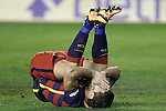 FC Barcelona's Luis Suarez dejected during La Liga match. March 3,2016. (ALTERPHOTOS/Acero)