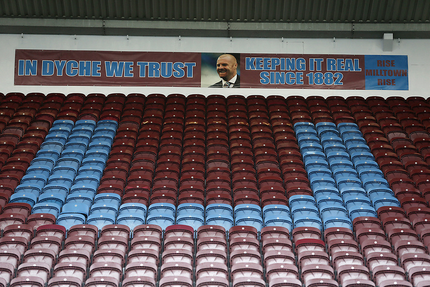 An 'In Dyche We Trust' banner on display at Turf Moor in tribute to Burnley manager Sean Dyche <br /> <br /> Photographer Rich Linley/CameraSport<br /> <br /> The Premier League - Burnley v Everton - Wednesday 26th December 2018 - Turf Moor - Burnley<br /> <br /> World Copyright © 2018 CameraSport. All rights reserved. 43 Linden Ave. Countesthorpe. Leicester. England. LE8 5PG - Tel: +44 (0) 116 277 4147 - admin@camerasport.com - www.camerasport.com