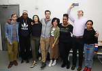 "Title:<br /> John McGinty, Kenny Leon, Julee Cerda, Joshua Jackson, Lauren Ridloff, Kecia Lewis, Anthony Edwards and Threshelle Edmond<br />  attends the cast photo call for the Broadway Revival of  ""Children of a Lesser God"" on February 22, 2018 at the Roundabout Rehearsal Studios in New York City."