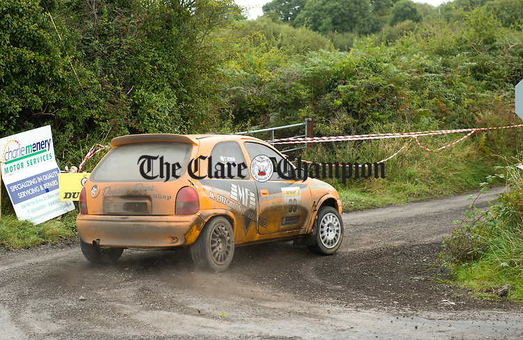 Brothers Tom and David Ryan in action during Stage 5 of the Clare Stages Rally at Ballinruan/Crusheen. Photograph by John Kelly.
