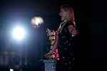 Bar Rafaeli with the Trofeo Senza Fine on stage at the Team Presentation before the 101st edition of the Giro d'Italia 2018. Jerusalem, Israel. 3rd May 2018.<br /> Picture: LaPresse/Marco Alpozzi | Cyclefile<br /> <br /> <br /> All photos usage must carry mandatory copyright credit (&copy; Cyclefile | LaPresse/Marco Alpozzi)