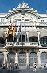 Port de Barcelona building, Spain.<br />