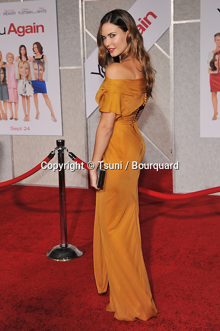 Odette Yustman<br /> You Again Premiere at the El Capitan Theatre In Los Angeles.