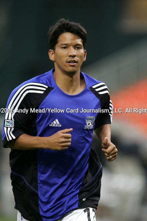 15 July 2005: Mark Chung. DC United defeated the San Jose Earthquakes 3-0 at RFK Stadium in Washington, DC in a regular season Major League Soccer game. .