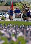 Supports participate in the 5th annual Veterans Suicide Awareness March, hosted by the Western Nevada College Veterans Resource Center, in Carson City, Nev., on Saturday, May 4, 2019. <br /> Photo by Cathleen Allison/Nevada Momentum