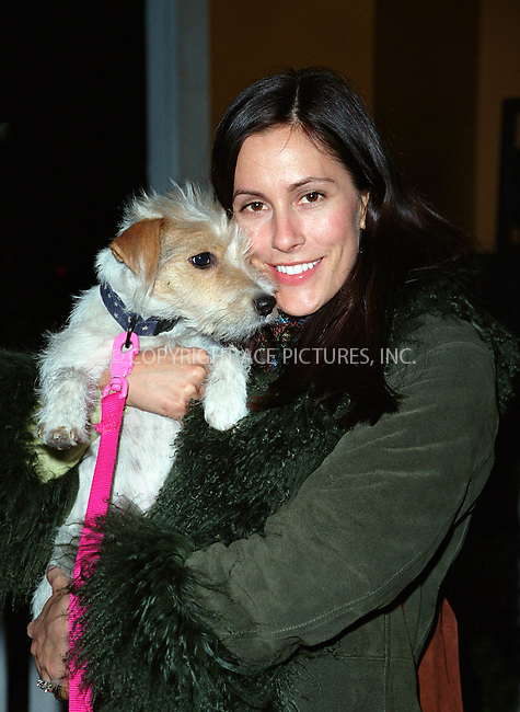 Magazine publisher CRISTINA GREEVEN-CUOMO with her dog 'Calle' at the Westminster Kennel Club's Tea and Biscuits Benefit to honor the search and rescue dogs and their handlers who risked their lives at Ground Zero in the heroic efforts that took place following the World Trade Center tragedy. The American Park Restaurant in New York. February 6, 2002.  © 2002 by Alecsey Boldeskul/NY Photo Press.     ....*ONE-TIME REPRODUCTION RIGHTS*      ....NY Photo Press:  ..phone (646) 267-6913;   ..e-mail: info@nyphotopress.com