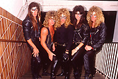 CRIMSON GLORY - Photosession at the Metal Hammer Festival at Westfalenhalle Dortmund Germany - 30 Apr 1989.  Photo credit: George Chin/IconicPix