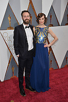 Benjamin Cleary &amp; Chloe Pirrie at the 88th Academy Awards at the Dolby Theatre, Hollywood.<br /> February 28, 2016  Los Angeles, CA<br /> Picture: Paul Smith / Featureflash