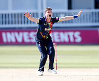 Adam Milne appeals during the Vitality Blast T20 game between Kent Spitfires and Gloucestershire at the St Lawrence Ground, Canterbury, on Sun Aug 5, 2018