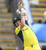 June 10th 2017, Edgbaston, Birmingham, England;  ICC Champions Trophy Cricket, England versus Australia; Aaron Finch of Australia plays a straight drive