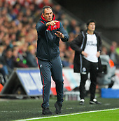 10th September 2017, Liberty Stadium, Swansea, Wales; EPL Premier League football, Swansea versus Newcastle United; Paul Clement manager of Swansea City gestures during the match
