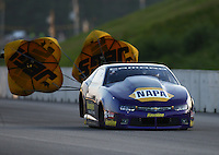 Jun 3, 2016; Epping , NH, USA; NHRA pro stock driver Vincent Nobile during qualifying for the New England Nationals at New England Dragway. Mandatory Credit: Mark J. Rebilas-USA TODAY Sports