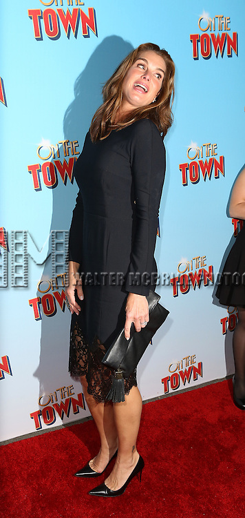 Brooke Shields attends the Broadway Opening Night Performance of 'On The Town'  at the Lyric Theatre on October 16, 2014 in New York City.