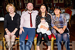 The christening of Carlie Ann O'Shea from Tralee in O'Donnell's Mounthawk on Saturday December 21st.<br /> Seated l to r: Bridget and Padraig O'Shea (Dad), baby Carlie Ann O'Shea with mom, Katie and Ann Tansley.