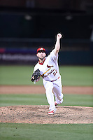 ***Temporary Unedited Reference File***Memphis Redbirds relief pitcher Justin Wright (64) during a game against the Omaha Storm Chasers on May 5, 2016 at AutoZone Park in Memphis, Tennessee.  Omaha defeated Memphis 5-3.  (Mike Janes/Four Seam Images)