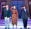 Anything Goes <br /> at the New Wimbledon Theatre, London, Great Britain <br /> press photocall<br /> 30th January2015 <br /> <br /> <br /> Simon Rouse as Elisha Whitney <br /> <br /> Jane Wymark Evangeline Harcourt <br /> <br /> Hugh Sacks as Moonface Martin <br /> <br /> <br /> Photograph by Elliott Franks <br /> Image licensed to Elliott Franks Photography Services