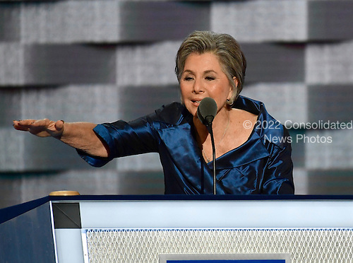 United States Senator Barbara Boxer (Democrat of California) makes remarks during the second session of the 2016 Democratic National Convention at the Wells Fargo Center in Philadelphia, Pennsylvania on Tuesday, July 26, 2016.<br /> Credit: Ron Sachs / CNP<br /> (RESTRICTION: NO New York or New Jersey Newspapers or newspapers within a 75 mile radius of New York City)