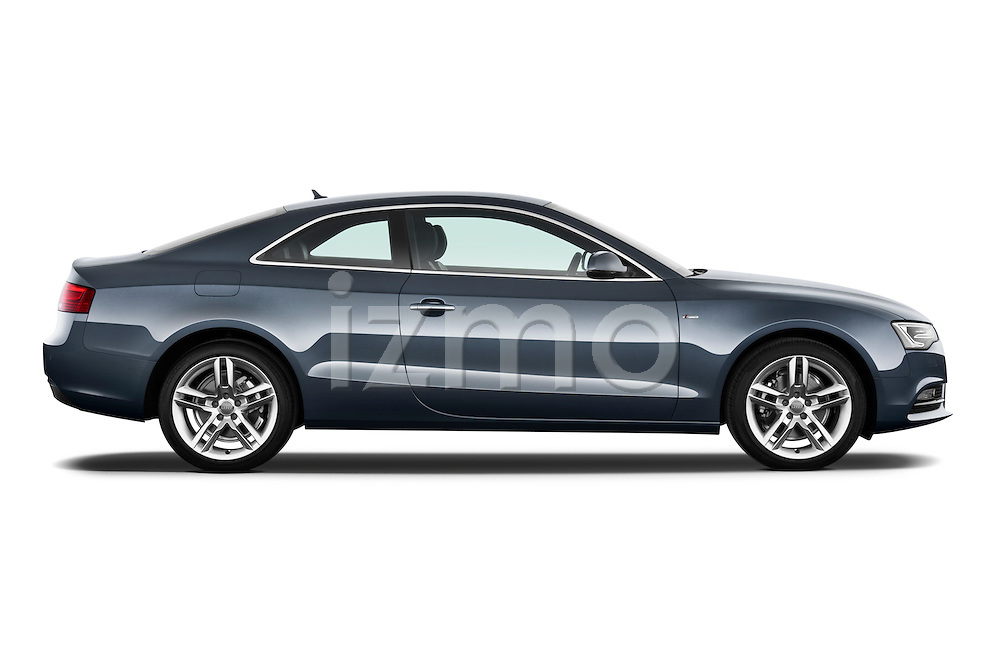 Passenger side profile view of a 2012 Audi A5 S Line Coupe.
